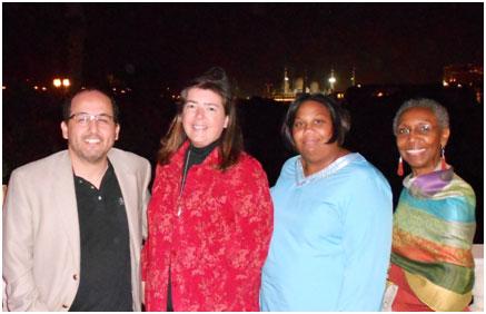 Oscar Felix, Colorado State University; Courtney Stryker, Zayed University;  Karla Fraser, American University of Afghanistan, Gwen Dungy, NASPA