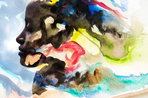 Paintography, Photograph combined with watercolour painting