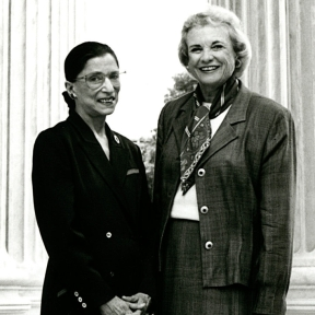 Supreme Court Justices Ruth Bader Ginsburg and Sandra Day O'Connor